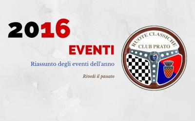 2016 Eventi in sintesi